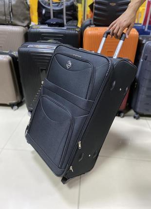 Тканевый большой чемодан на 2 колеса. польша