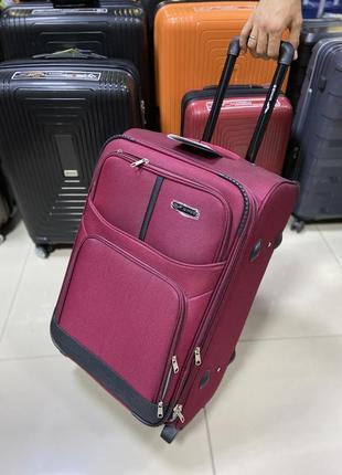 Средний чемодан тканевый польша