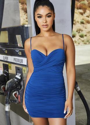 Платье красивого сине шо цвета по фигуре oh polly