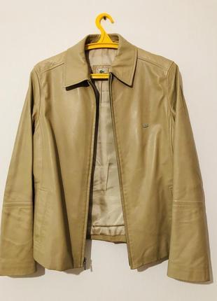 Кожаная куртка пиджак lacoste