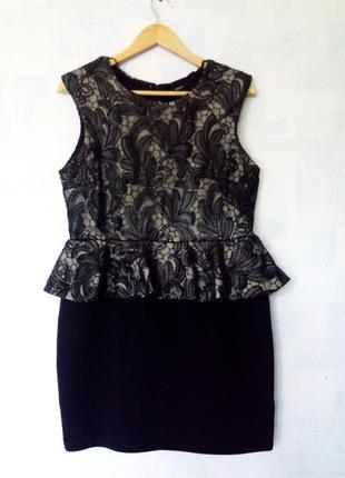 Коктейльное платье с баской рарауа