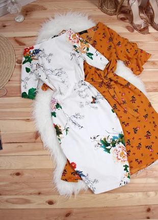 Платье zara с цветами
