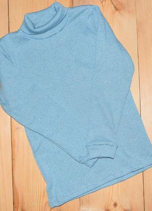 Гольф водолазка мальчику голубой, на рост 120-140 см