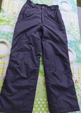 Теплые балоневые зимние штаны, можна для катания на лыжах