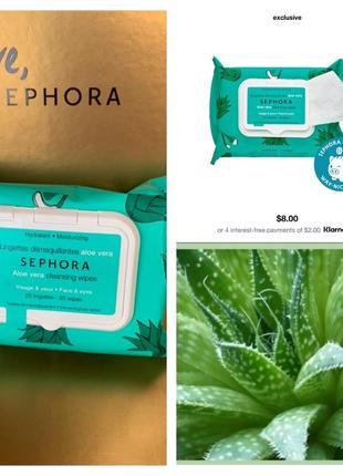 Влажные салфетки для снятия макияжа от sephora