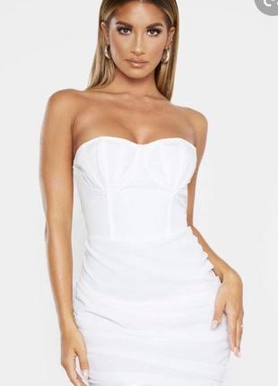 Платье бюстье драпировка