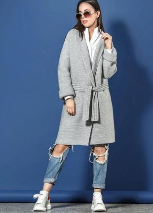 Вязаное пальто 2020