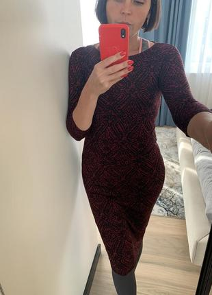 Миди- платье с принтом