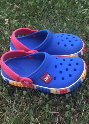 Сандалии сабо кроксы crocs c10 11 lego оригиная