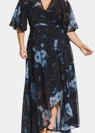 Платье шифоновое макси