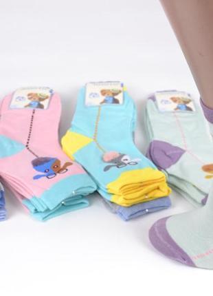 Яркие детские носки с жирафом
