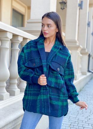 Теплая шерстяная рубашка в стиле zara пальто вовна тепла шерстяна рубашка пальто