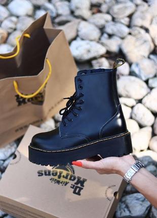 Женские шикарные ботинки dr. martens jadon / натуральная кожа