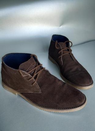 Замшевые демисезонные ботинки walkx 42.5-43р 27cм