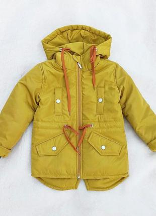 Куртка парка для девочки для мальчика 92-116