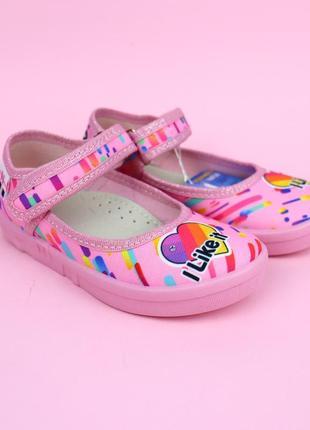 Текстильные туфли likee для девочки