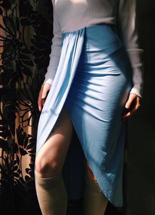 Интересная миди - юбка zara, доставка бесплатная