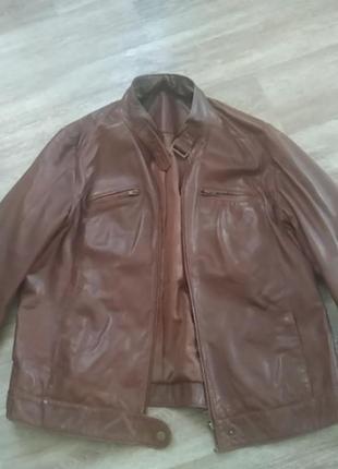 Роскошная итальянская кожаная куртка