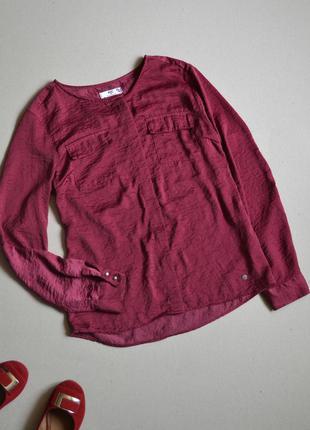Блузка рубашка цвета марсала ajc