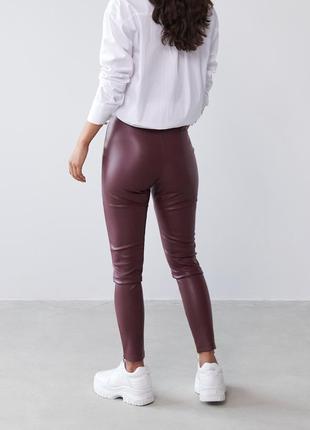Лосины кожаные, кожаные штаны3 фото