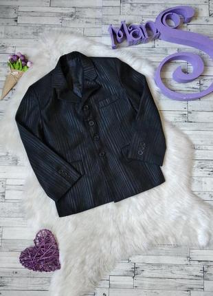Пиджак школьный laize на мальчика черный в полоску