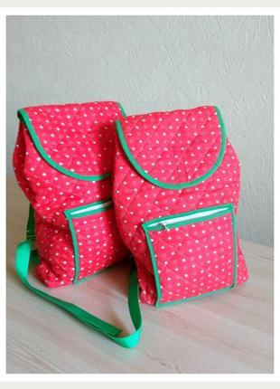 Рюкзак - мешок сумка красный