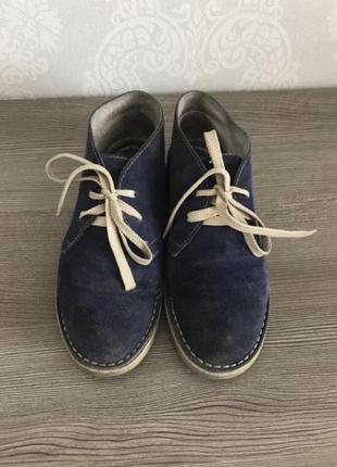 Замшевые ботинки лоферы