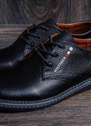 Hilfiger мужские кожаные ботинки туфли мужская обувь