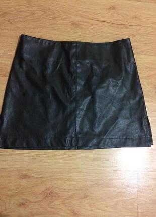 Натуральная юбка кожаная кожа