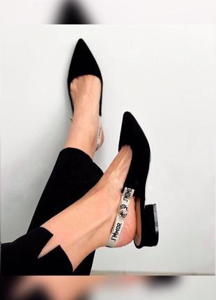 Женская обувь, слингбэки, туфли на низком каблуке