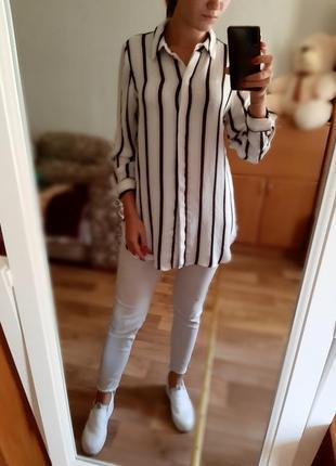 Длинная полосатая рубашка