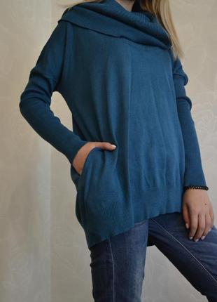 Бирюзовый свитер english laundry большой размер