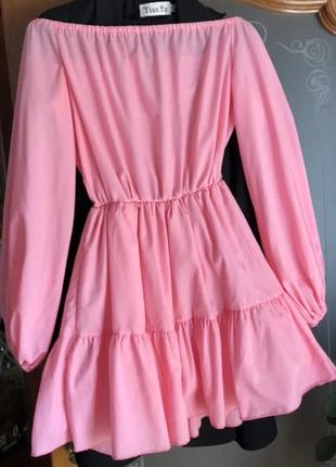 Яркое милое летнее платье 44-46 размер
