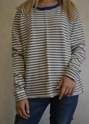 Полосатая бобка пуловер gap большой размер