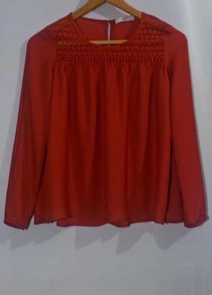 Блуза бренд mango (терракотовый цвет)