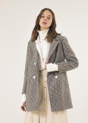 Стильное женское пальто season петра светло-серое