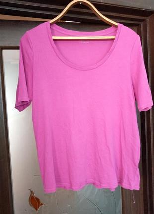 Рожева футболка великого розміру