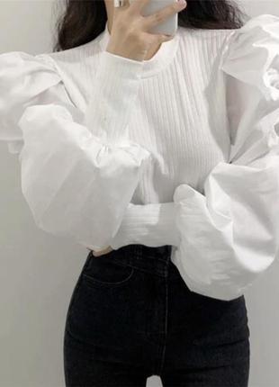 Кофта/лонгслив/блуза с объемными рукавами {разные цвета}