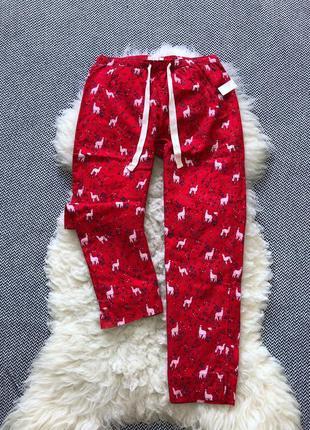 Домашние пижамные байковые штаны в ламы дома принт gap оригинал