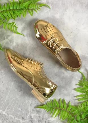 Модные золотистые туфли с бахромой  sh1933095 asos1 фото
