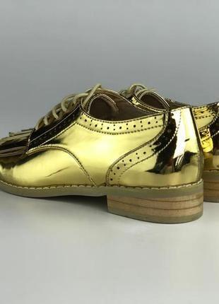 Модные золотистые туфли с бахромой  sh1933095 asos4 фото
