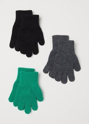 Комплект из 3-х пар перчаток h&m