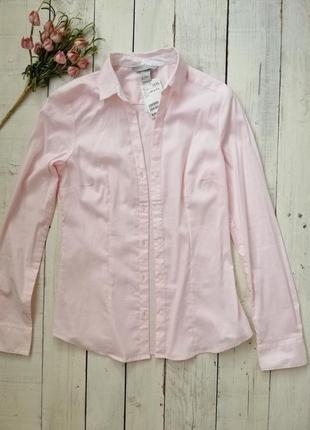 Новая натуральная рубашка h&m, размер 36, 38 .