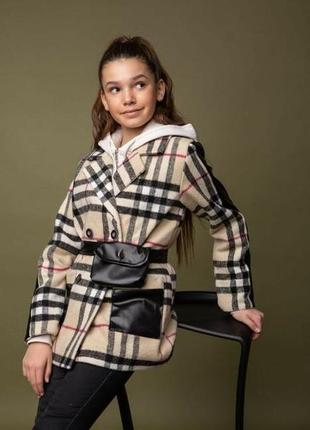 Пальто пиджак куртка в клетку кашемировое
