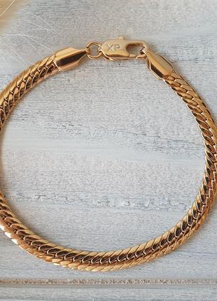 Позолоченный браслет xuping, позолота 18к, медицинское золото, бижутерия