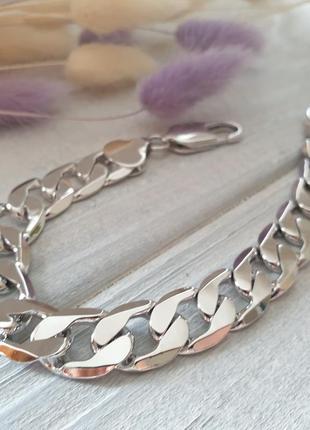 Мужской массивный браслет xuping родированный, ювелирная бижутерия, под серебро
