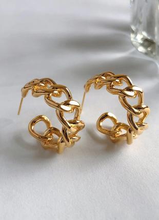 Серьги серёжки кольца золотистые новые