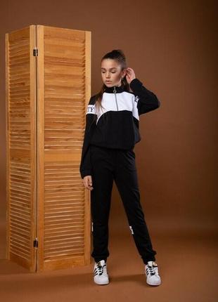 Спортивный костюм двунитка штаны джемпер на подростка
