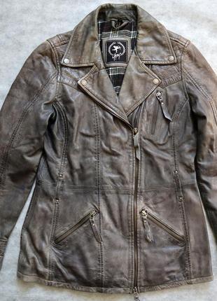 Стильна німецька шкіряна жіноча куртка gipsy