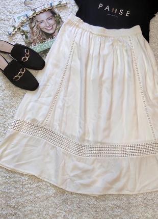 Винтажная юбка миди с кружевом
